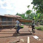 Joe and the build team at the Tororo coop build.